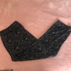 Black white texture yoga work out pants XL